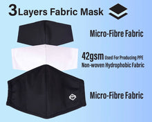 Load image into Gallery viewer, Microfibre Fabric Face Mask