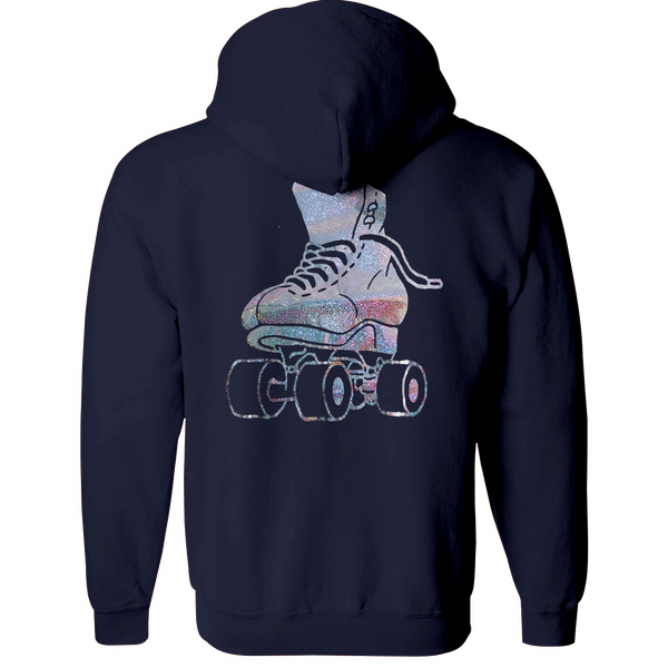 Just Skate Hologram Hoodie - rob-scott-creates-original-rollers