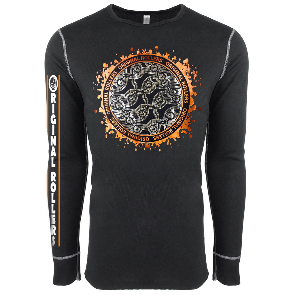 Abstract Skates Long Sleeve Terminal Gold Orange