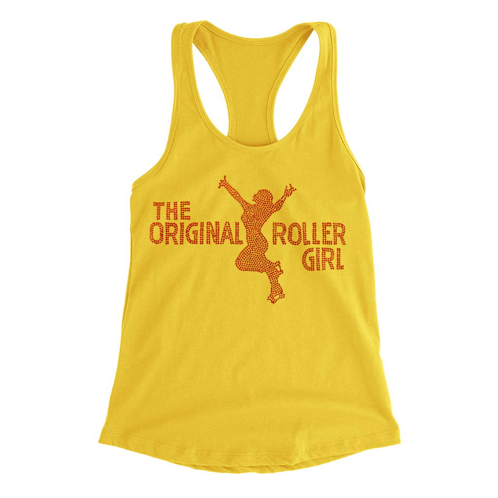 ORollers Girl Rhinestone Racerback - rob-scott-creates-original-rollers