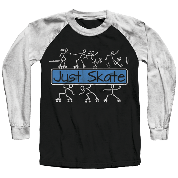 Just Skate 2 Raglan Shirt - rob-scott-creates-original-rollers
