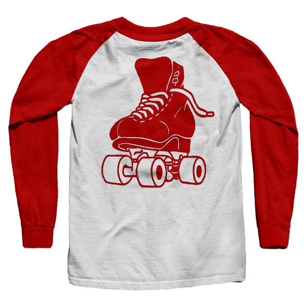 Just Skate Raglan Shirt - rob-scott-creates-original-rollers