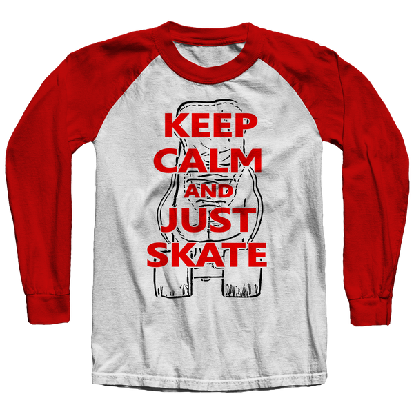 Keep Calm and Just Skate Raglan Shirt