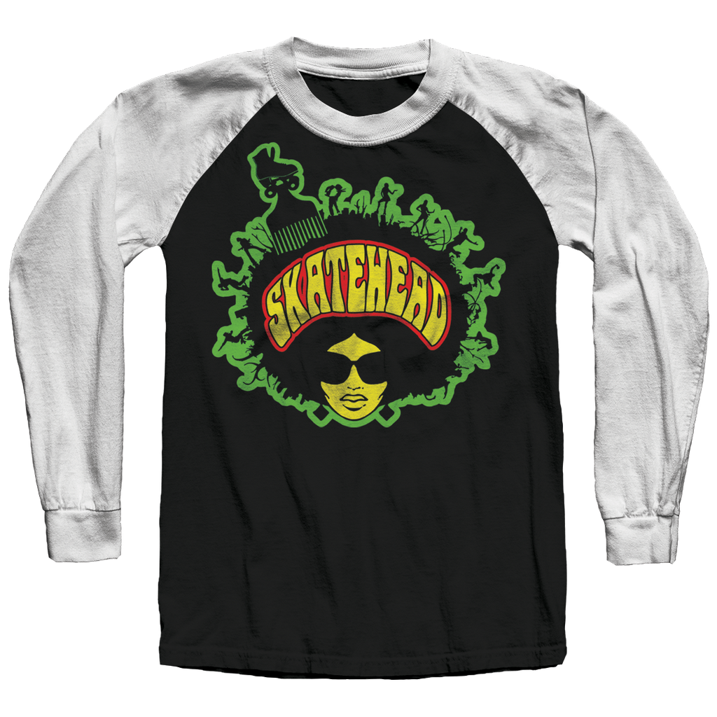 Skatehead Women Color Raglan Shirt - rob-scott-creates-original-rollers