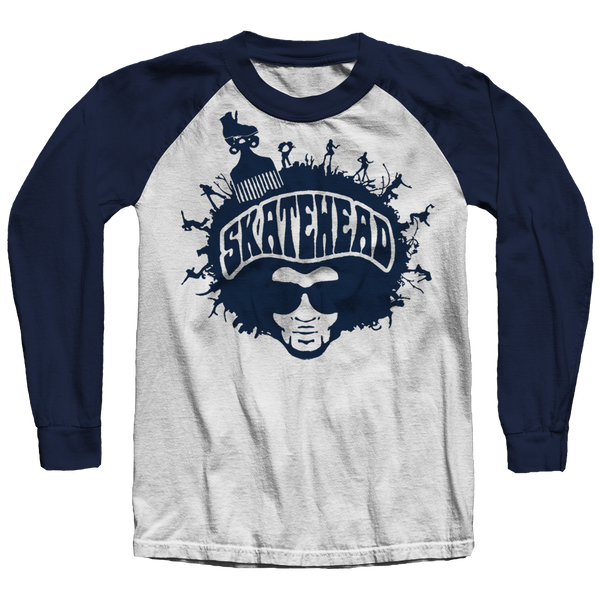 Skatehead Men Raglan Shirt - rob-scott-creates-original-rollers