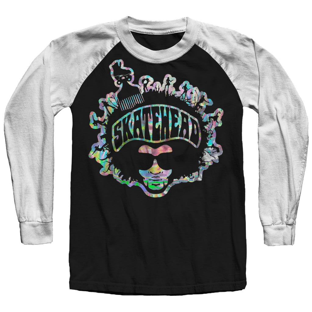 Skatehead Men Spectrum Raglan Shirt - rob-scott-creates-original-rollers