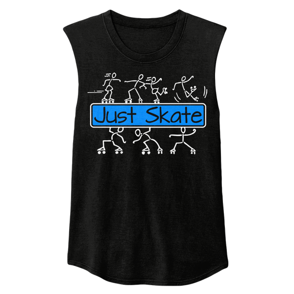Just Skate 2 Sleeveless - rob-scott-creates-original-rollers