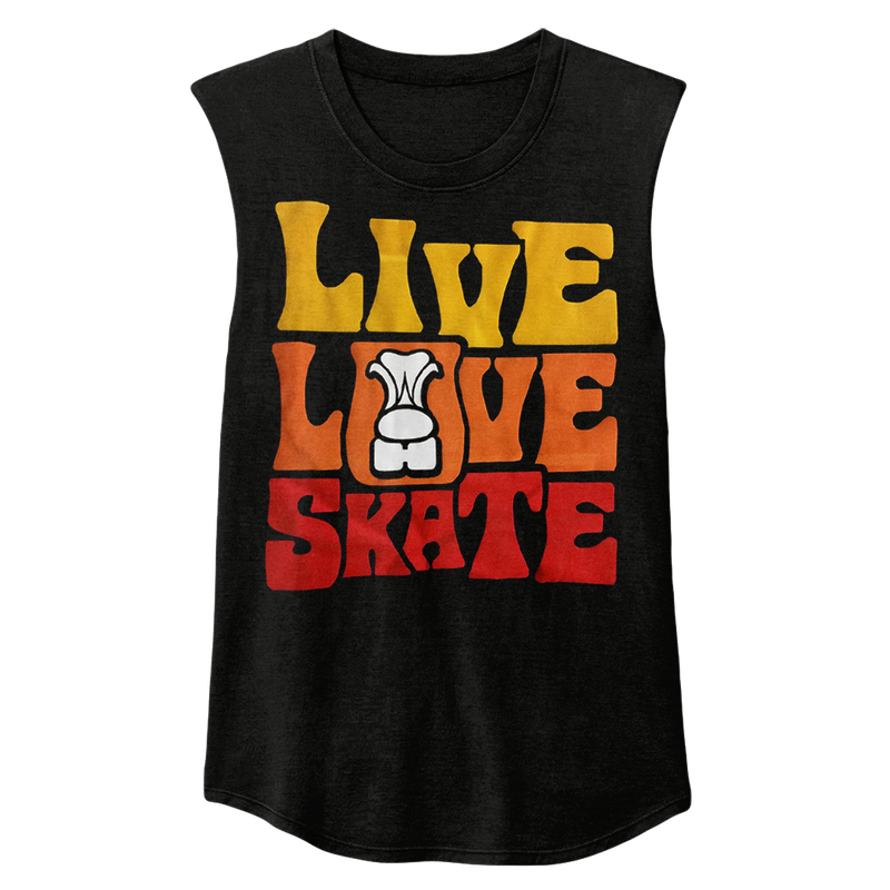 Live Love Skate Flock Sleeveless - rob-scott-creates-original-rollers