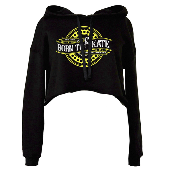 Born To Skate Crop Fleece Hoodie
