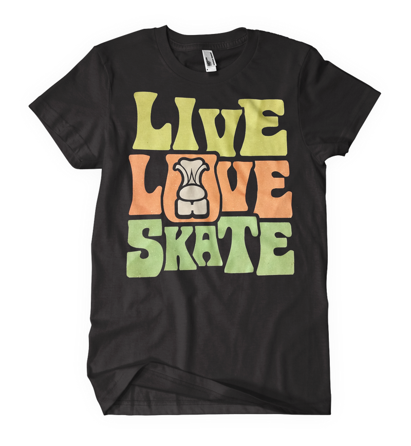Live Love Skate Glitter - rob-scott-creates-original-rollers