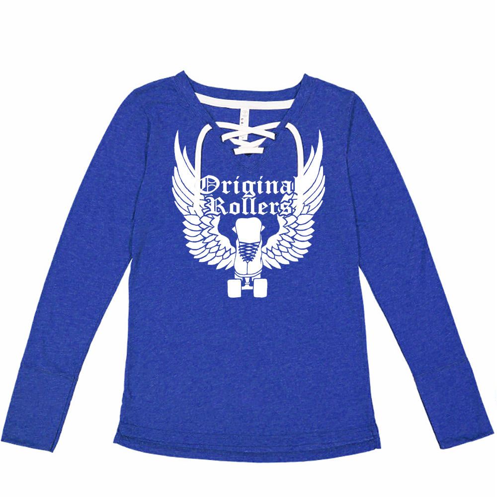 Wing Skate Long Sleeve Lace-up T-shirt