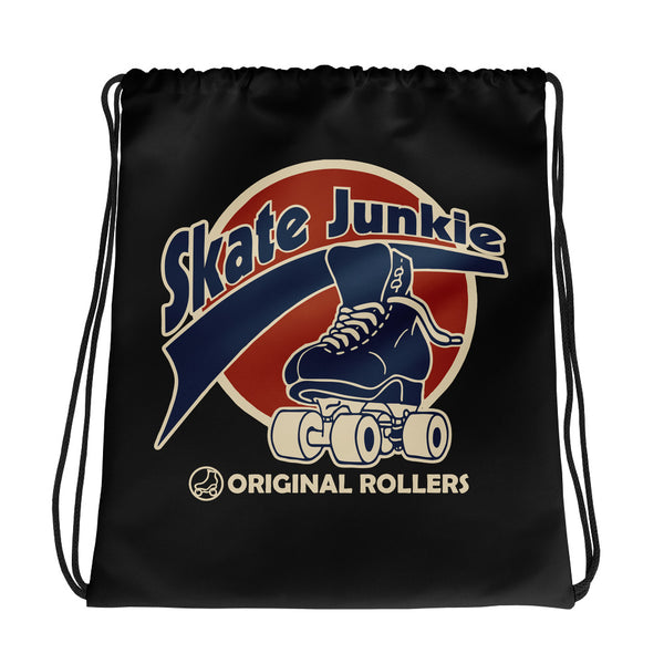 Skate Junkie Black Drawstring bag