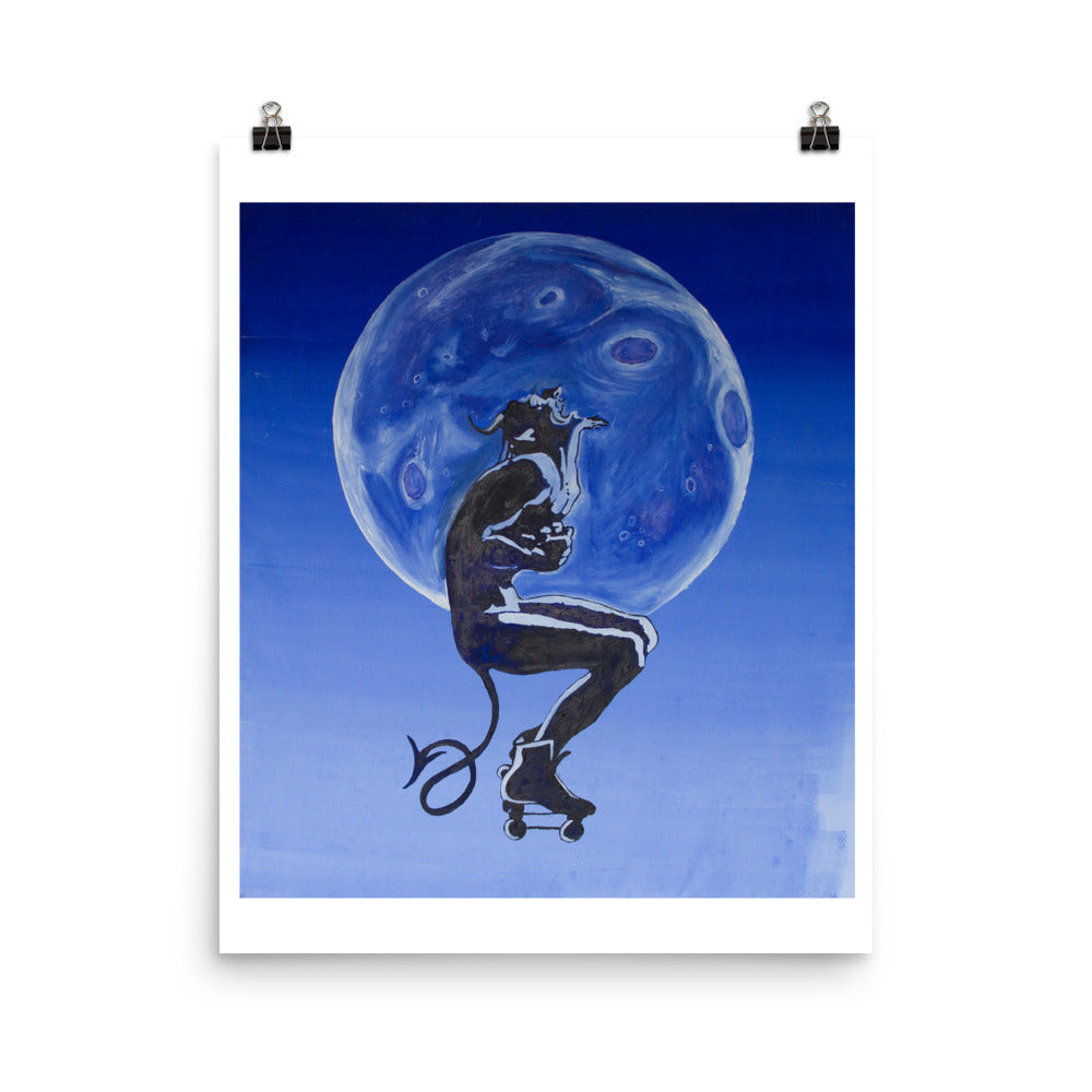Demon on Wheels Poster print