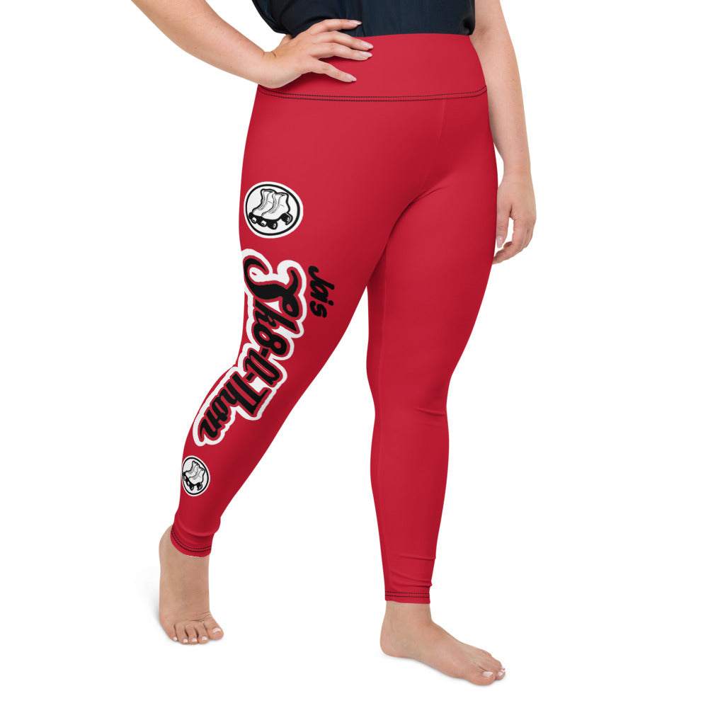 Sk8athon Red Plus Size Leggings