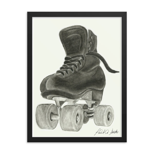 Skate Drawing2 Framed poster Print