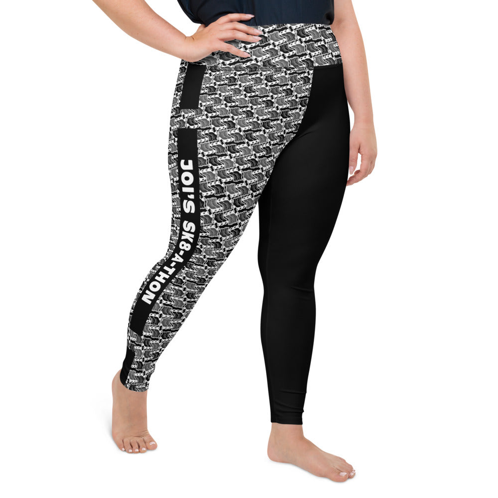 Sk8athon Solid strips Plus Size Leggings