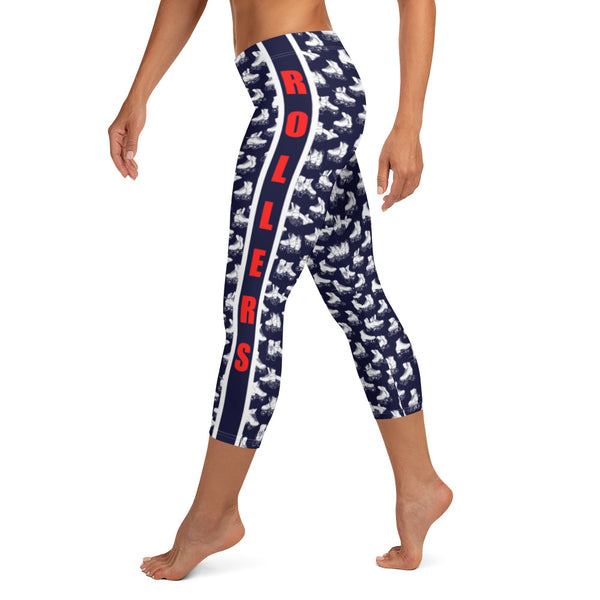 Allskates OR Red White Blue Capri Leggings