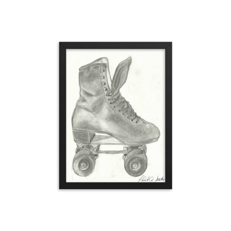 Skate Drawing Framed poster Print