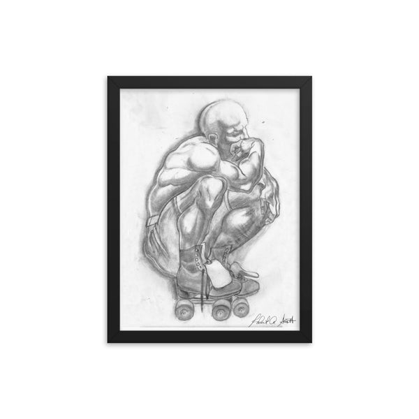 True Skater Thinker Framed poster print