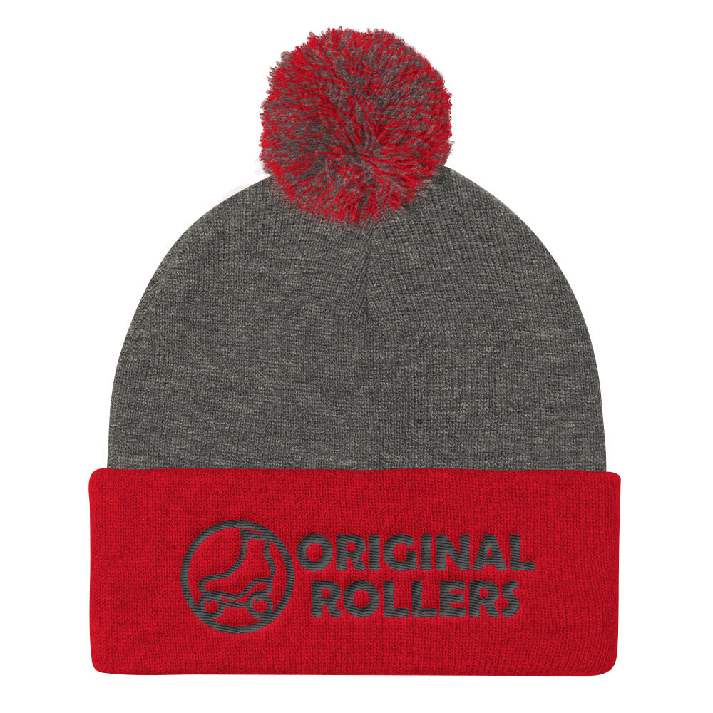OR Logo2 Pom Pom Knit Cap - rob-scott-creates-original-rollers