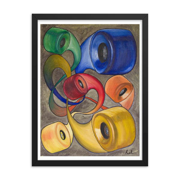 Wheels Framed poster print