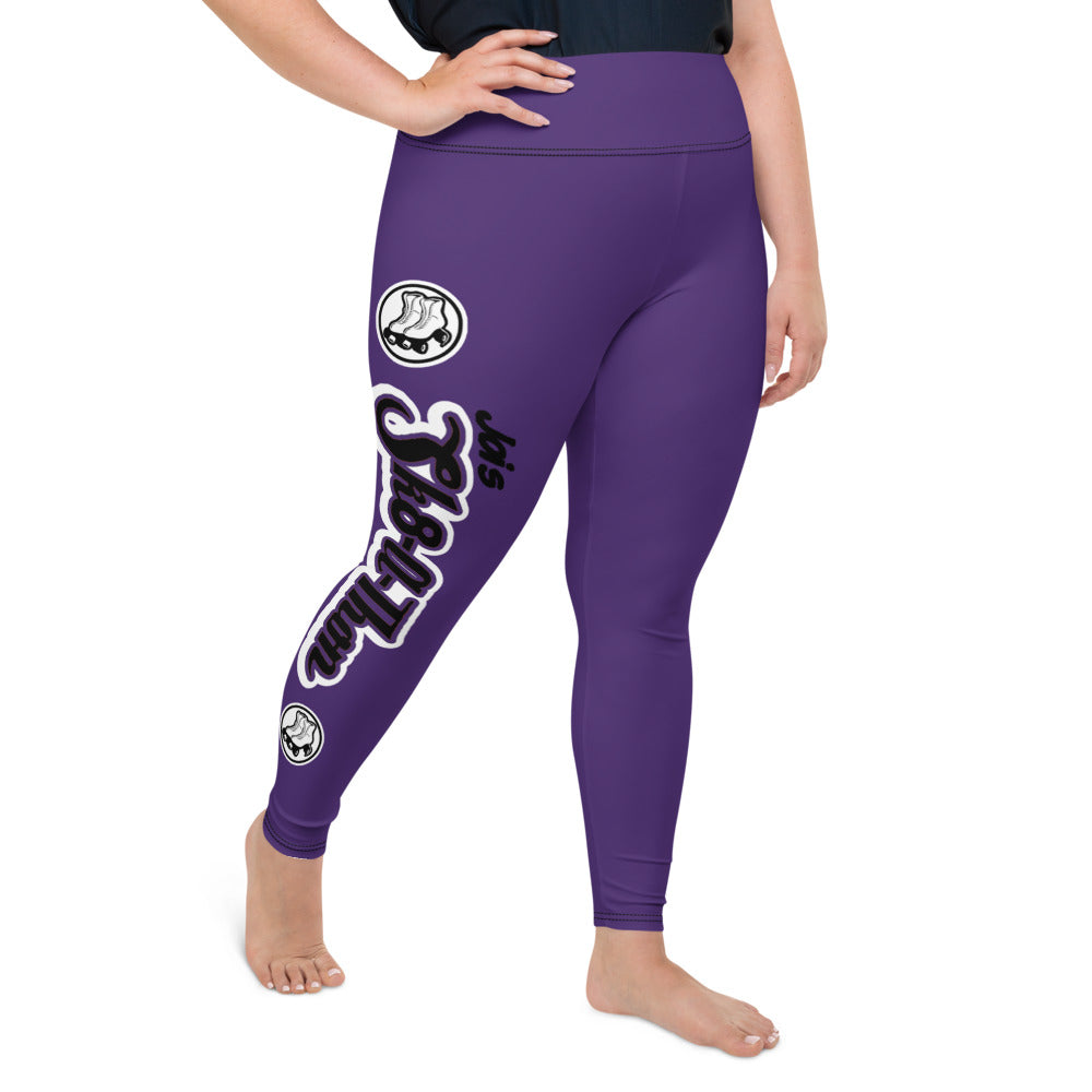 Sk8athon Purple Plus Size Leggings