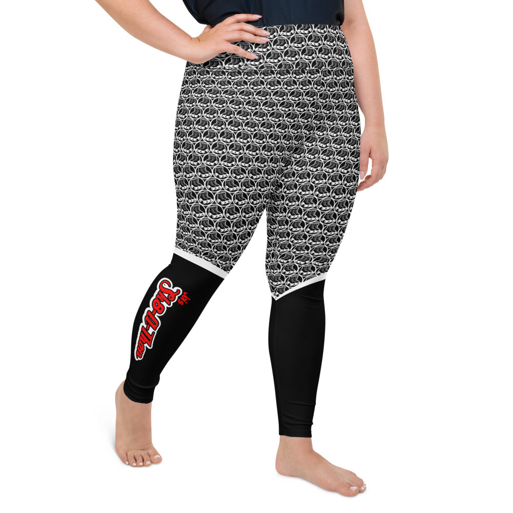 Sk8athon Skate Circle1 Plus Size Leggings