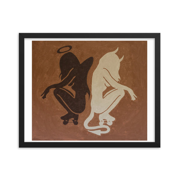 Shadow of Evil Framed poster print