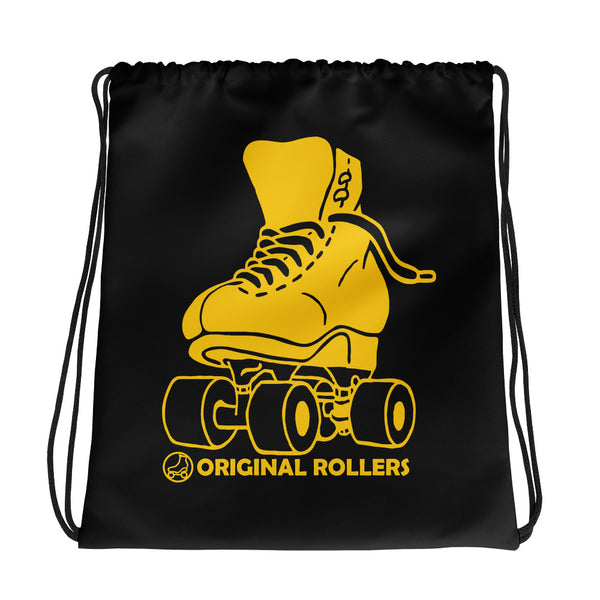 Big Skate Black Drawstring bag