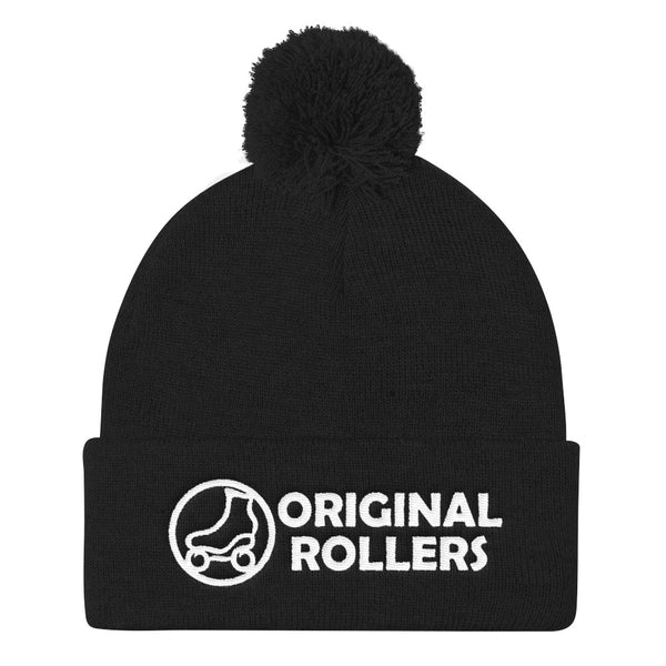 OR Logo1 Pom Pom Knit Cap - rob-scott-creates-original-rollers