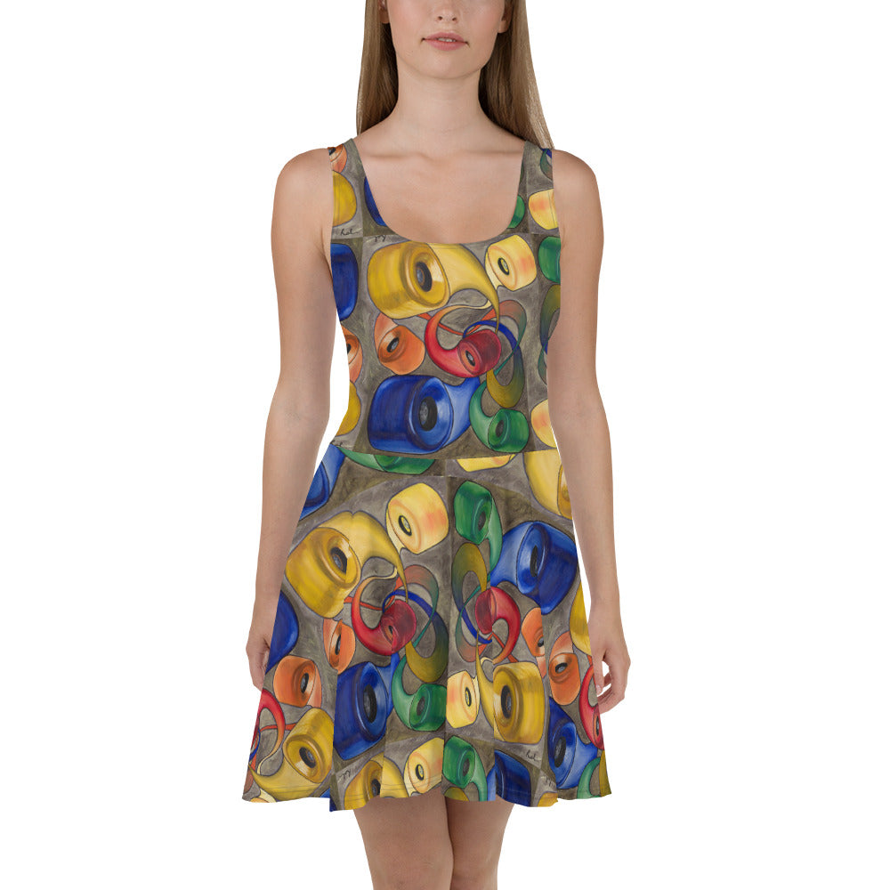Wheels Skater Dress