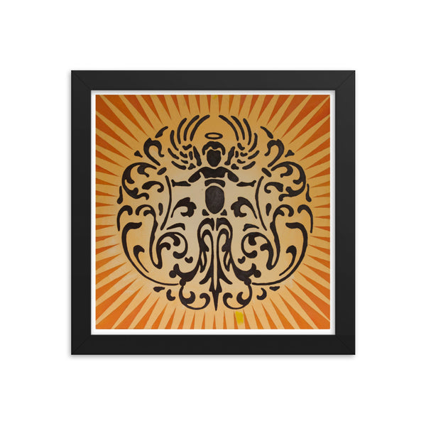 Angel On Wheels Framed poster Print