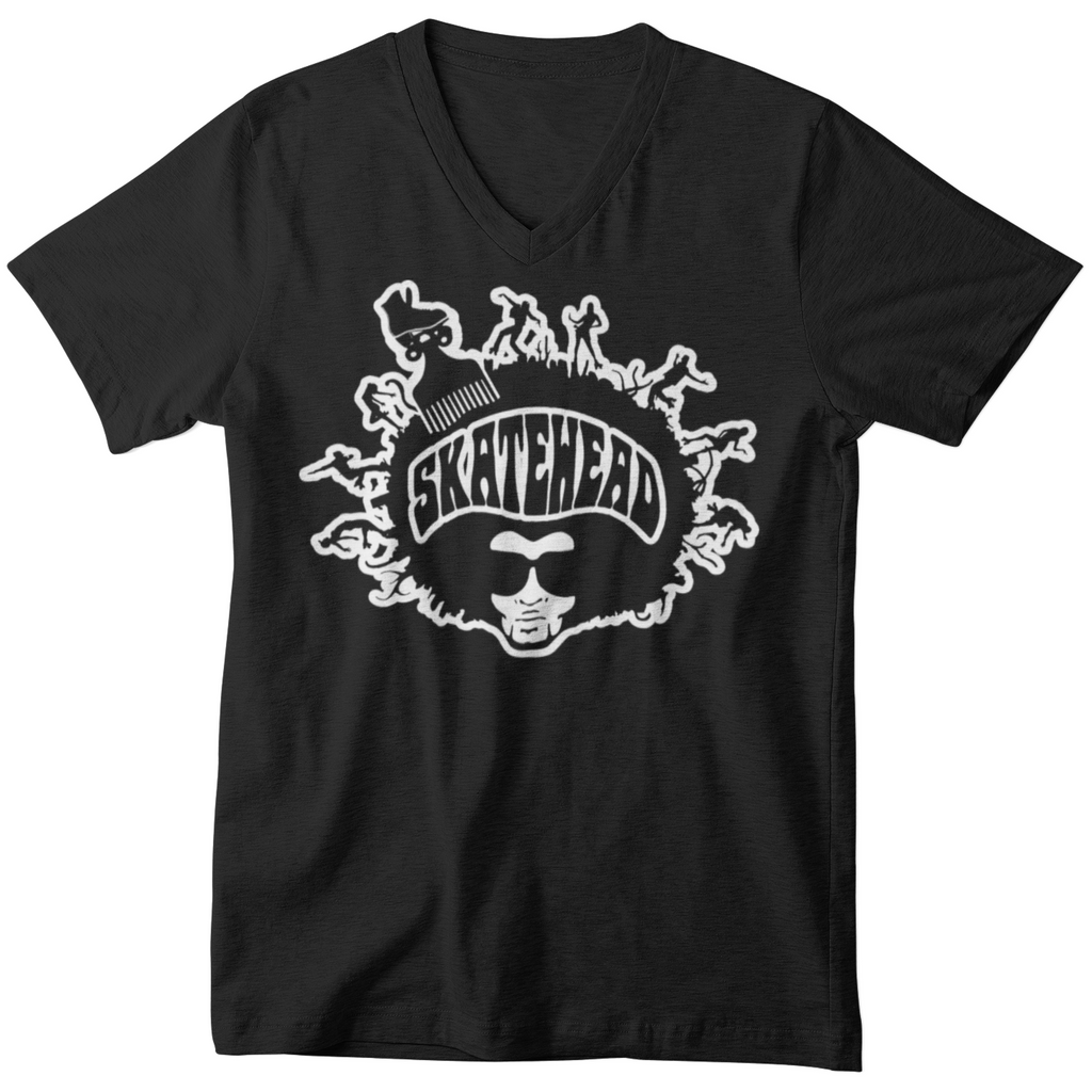 Skatehead Men V-neck - rob-scott-creates-original-rollers