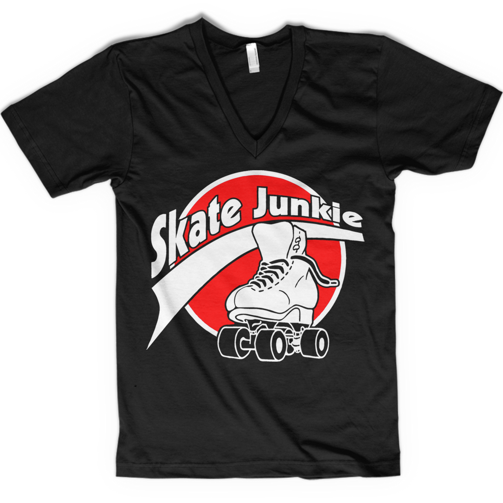 Skate Junkie V-neck - rob-scott-creates-original-rollers