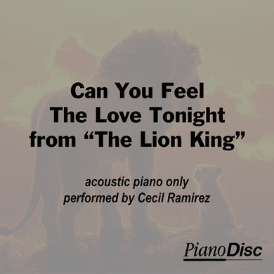 Can You Feel The Love Tonight - from the Lion King