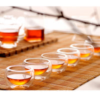 Double Walled Thermal Insulated 50ml Clear Tea Glass (6pcs/set)