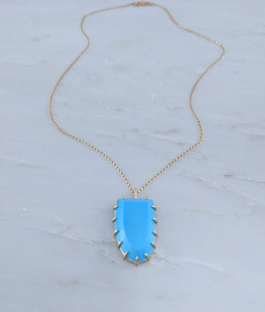 Sleeping Beauty Turquoise Prong Necklace