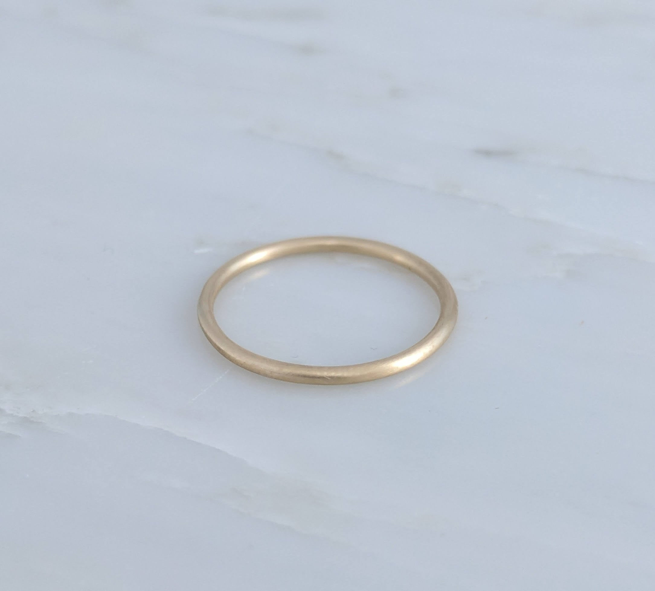 Thin 1.3mm 14K Yellow Gold Band