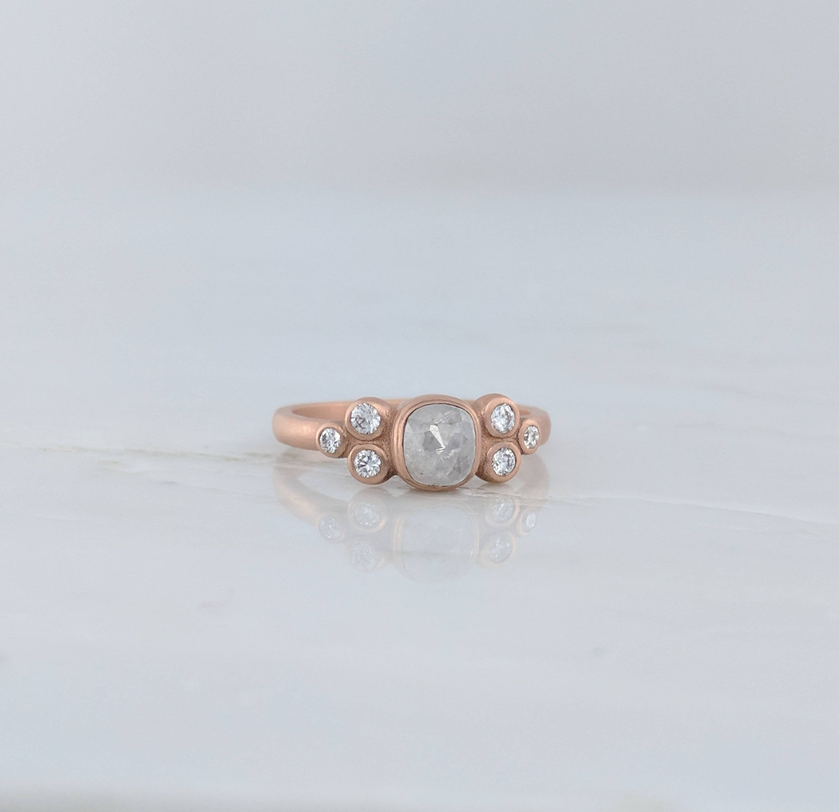 Diamond Cluster Ring in Rose Gold