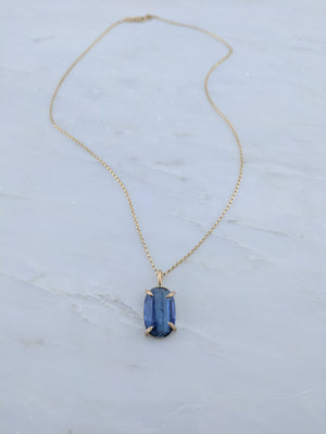 Kyanite Necklace in 14K Gold