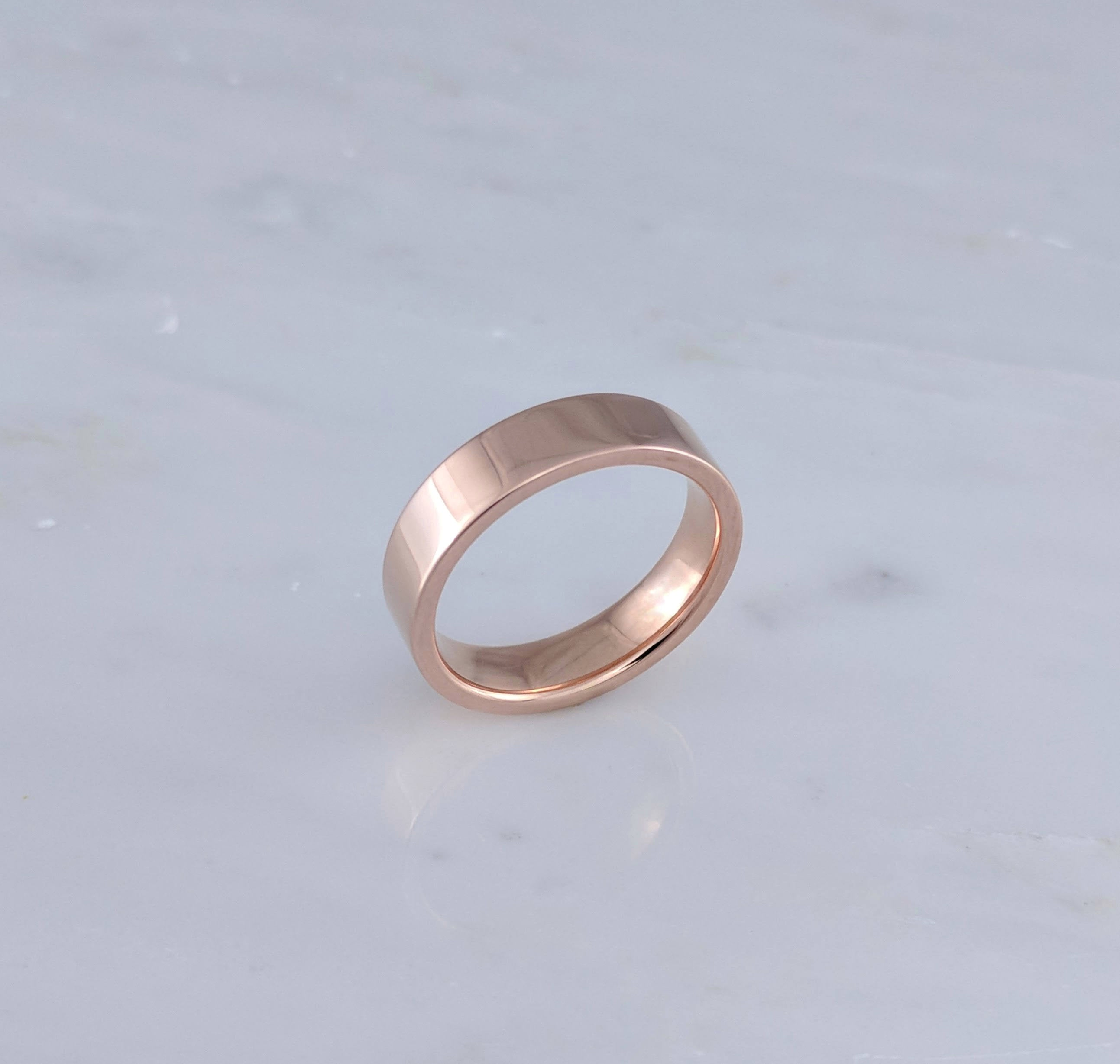5mm Flat Band in 14K Rose Gold