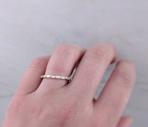Baguette Ring in 14K Yellow Gold
