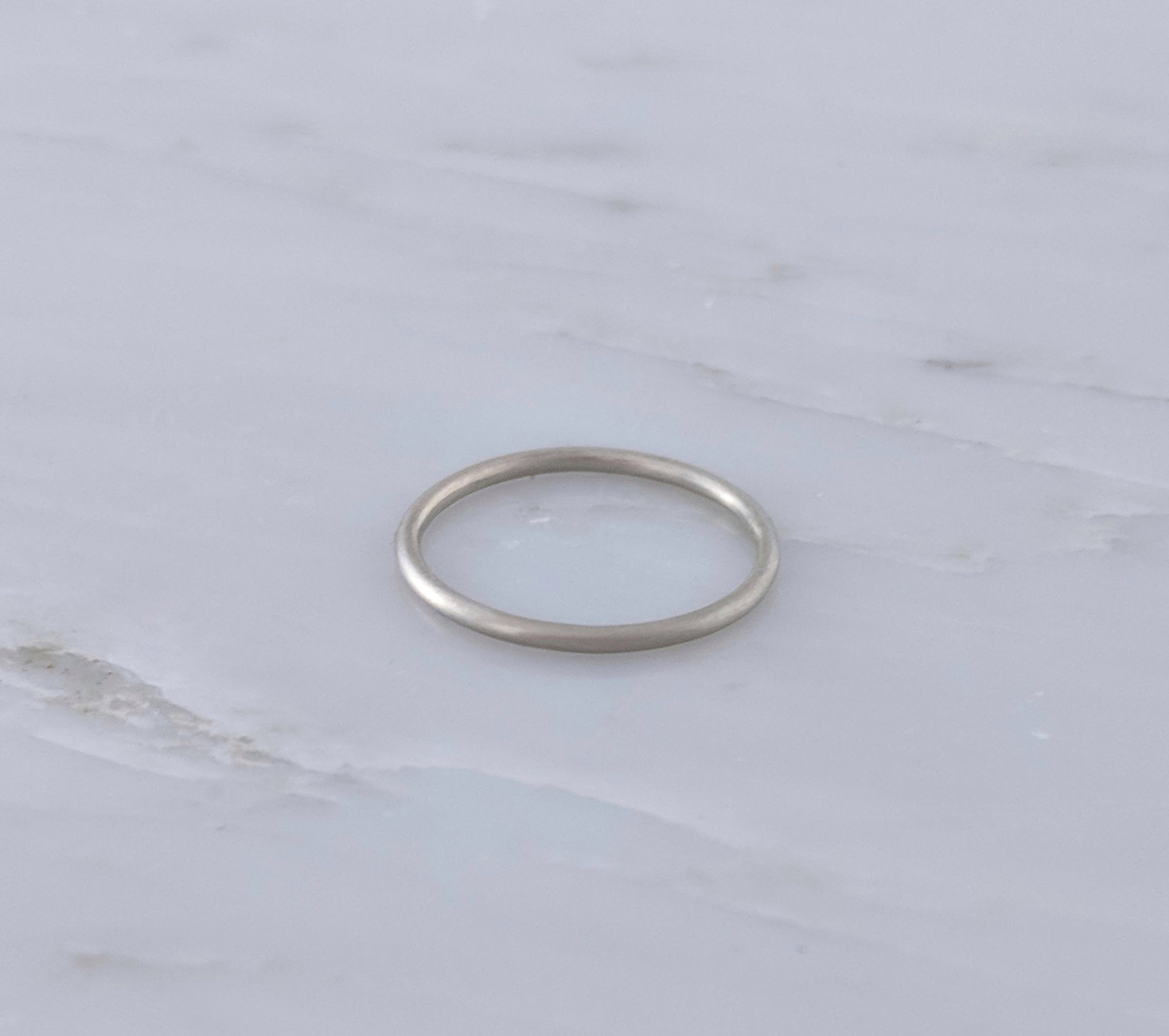 Thin 1.3mm 14K White Gold Ring