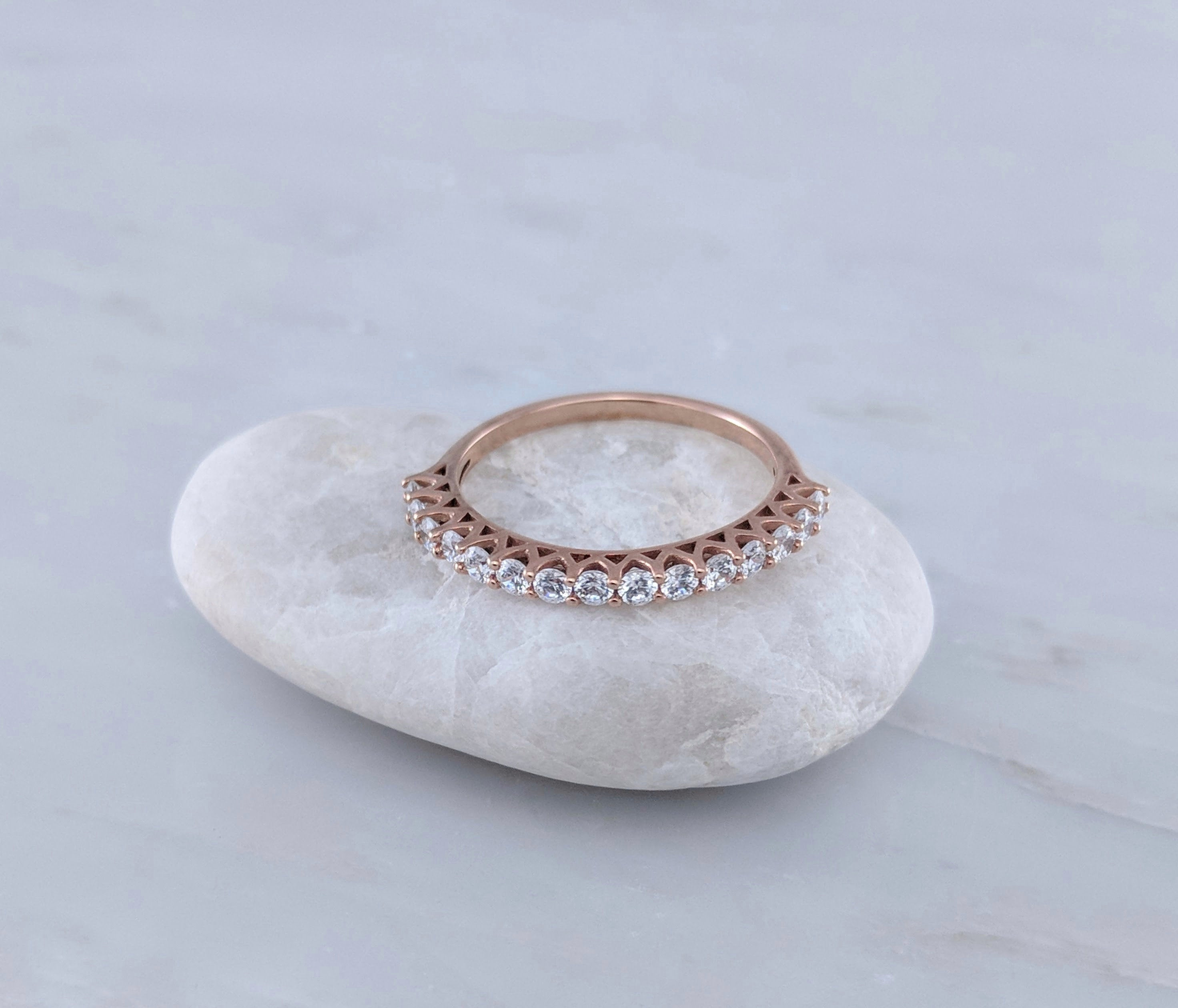 Diamond Eternity Ring in 14K Rose Gold