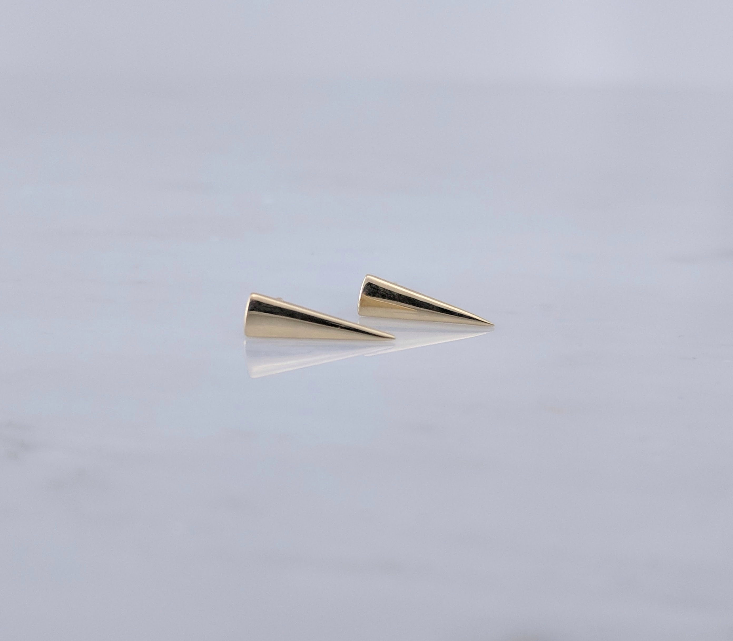 Triangle Stud Earrings in Gold