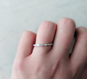 Baguette Ring in 14K White Gold