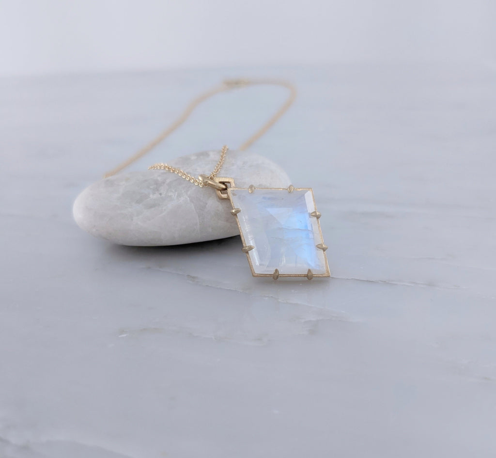 Moonstone Necklace | 14K Gold Necklace