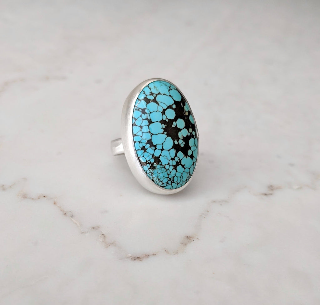 Big Turquoise Statement Ring | Sterling Silver