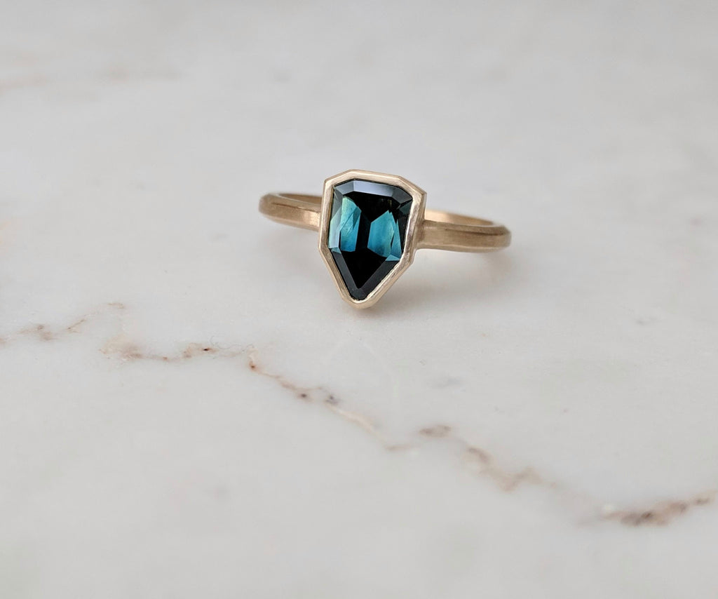 Sapphire One of a Kind Ring | 18K Yellow Gold