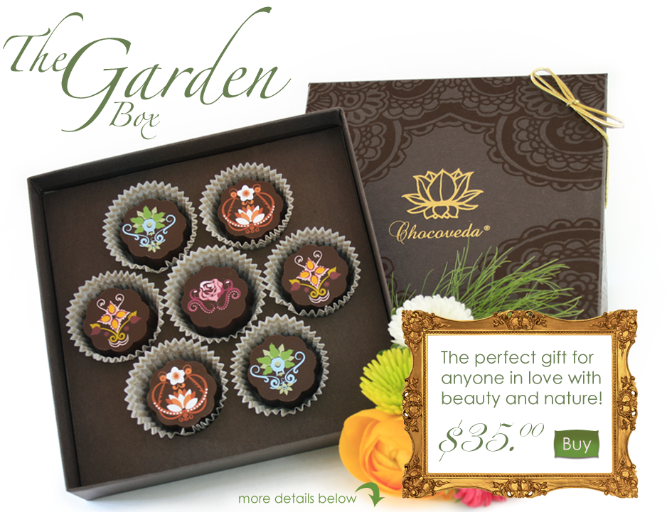 The Garden Box - Chocoveda Vegan Chocolate Truffles